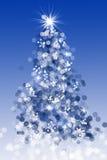 bokeh圣诞树 免版税库存照片