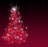 bokeh圣诞树 免版税库存图片