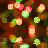 bokeh圣诞节 免版税图库摄影