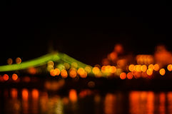 Bokeh布达佩斯的桥梁 库存照片