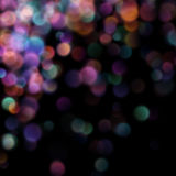 Bokeh弄脏了在黑暗的背景的光 10 eps 免版税图库摄影
