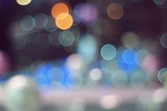 bokeh梦想的抽象背景从LED光的 免版税库存照片