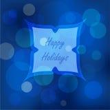 Bokeh点燃圣诞节背景 免版税图库摄影