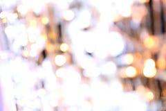 Bokeh背景五颜六色圣诞快乐,新年好bokeh在夜背景, Bokeh闪烁光的照明设备亮光 免版税图库摄影
