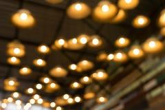 bokeh背景的轻的灯 免版税库存图片