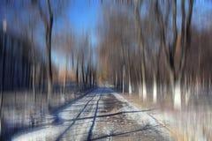 BOkeh都市风景公园秋天 库存图片