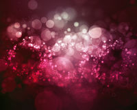 Bokeh难看的东西背景紫色泡影 免版税库存图片