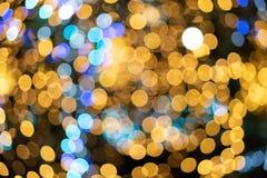 Bokeh światła od choinki zaświecają od wieloskładnikowego satell zdjęcie royalty free