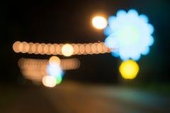 Bokeh światła wydarzenie przy nocą Zdjęcia Stock