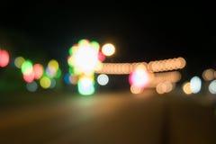 Bokeh światła wydarzenie przy nocą Fotografia Royalty Free