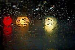 bokeh βροχή απελευθερώσεων Στοκ Φωτογραφίες