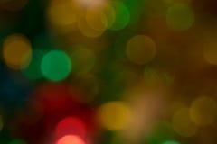bokeh ζωηρόχρωμος αφηρημένα Χριστούγεννα ανασκόπησης Στοκ Φωτογραφία