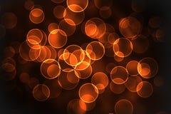 bokeh πορτοκαλιά στρογγυλή &si Στοκ Εικόνες