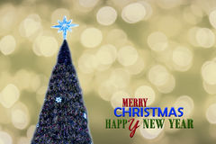 Bokeh που ακτινοβολεί στη Παραμονή Χριστουγέννων Στοκ Εικόνες