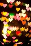 bokeh σειρά καρδιών Στοκ Φωτογραφίες