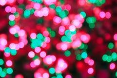 Bokeh στη Παραμονή Χριστουγέννων Στοκ Εικόνες