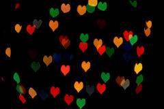 Bokeh της ανασκόπησης καρδιών Στοκ Εικόνες