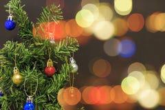 Bokeh του χριστουγεννιάτικου δέντρου Στοκ Φωτογραφίες