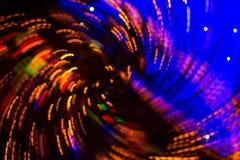 Bokeh-абстракция: красочная волна светов города стоковое изображение rf
