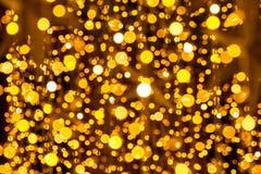 Bokeh-абстракция: Круги золота и светов стоковые фото