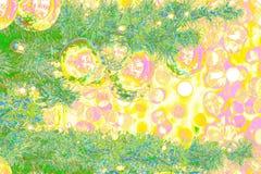Bokeh-абстракция: Открытка ` s Eve Нового Года в стиле искусства шипучки стоковое изображение rf