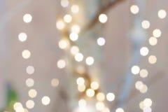 Bokeh белизны предпосылки рождества Стоковое Фото