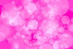 bokeh белого света на розовой предпосылке Стоковые Фото