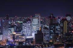 Bokeh вида на город ночи Стоковые Изображения RF