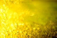 Bokeh желтого цвета и света золота стоковое изображение rf