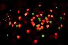 Bokeh красочных сердец стоковая фотография