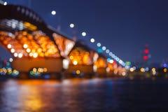 Bokeh, мост Seongsan Стоковые Изображения