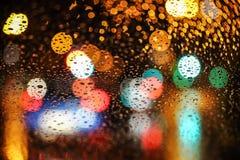 Bokeh ночи города Стоковое Изображение RF