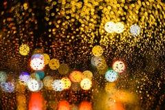 Bokeh ночи города Стоковое Изображение