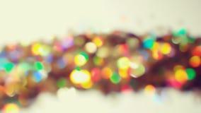 Bokeh освещает в много различных, ярких, и милых цветов Скопируйте sp Стоковое Изображение RF