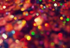 Bokeh освещает в много различных, ярких, и милых цветов Стоковое Изображение