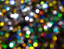 Bokeh освещает в много различных, ярких, и милых цветов Стоковые Изображения RF