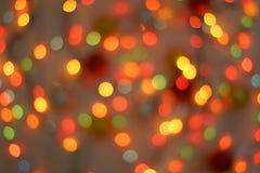 Bokeh праздника абстрактное рождество предпосылки Стоковое Изображение