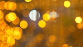 bokeh предпосылки золотистое много золотые расплывчатые света сток-видео