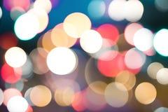 Bokeh предпосылки света ночи круговое стоковое изображение rf