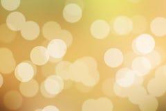 bokeh предпосылки золотистое Стоковые Изображения RF