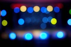 Bokeh размеченных запачканных светов этапа Стоковая Фотография