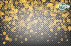 Bokeh рождества сияющее изолированное на прозрачной предпосылке вектор Стоковая Фотография RF