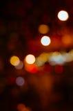 Bokeh света ночи в запачканной предпосылке Стоковое Изображение
