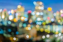 Bokeh света ночи города стоковое изображение rf