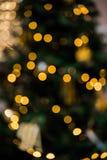 Bokeh светов рождества Стоковые Изображения RF