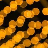 Bokeh светлооранжевое Стоковое Изображение RF