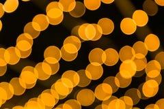 Bokeh светлооранжевое Стоковая Фотография