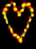 Bokeh сердца влюбленности Стоковое фото RF