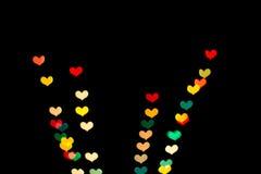 Bokeh сердца форменное Стоковые Фотографии RF