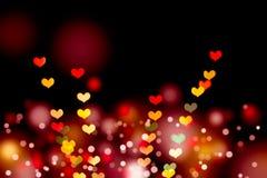 Bokeh сердца форменное Стоковая Фотография